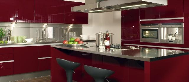 Beeck marinus keukens - Keuken rode en grijze muur ...